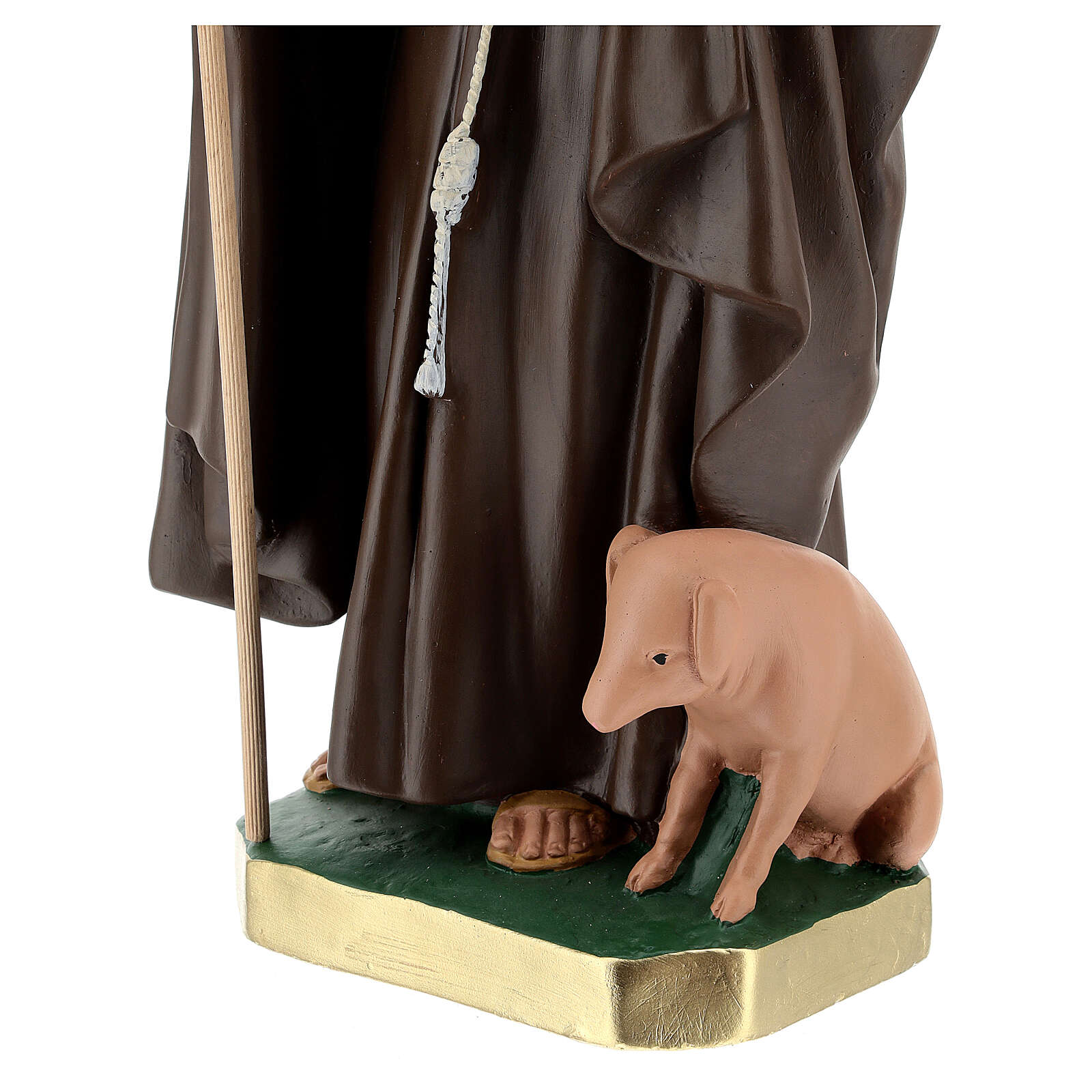 Statue of St. Anthony Abbott 50 cm plaster Arte Barsanti 4