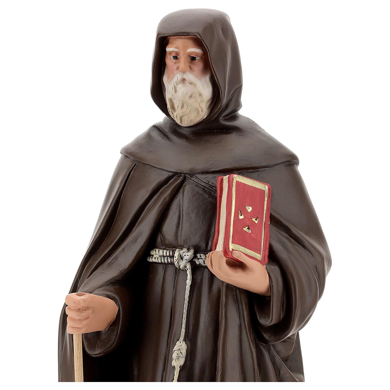 Saint Antoine le Grand statue plâtre 50 cm Arte Barsanti 4