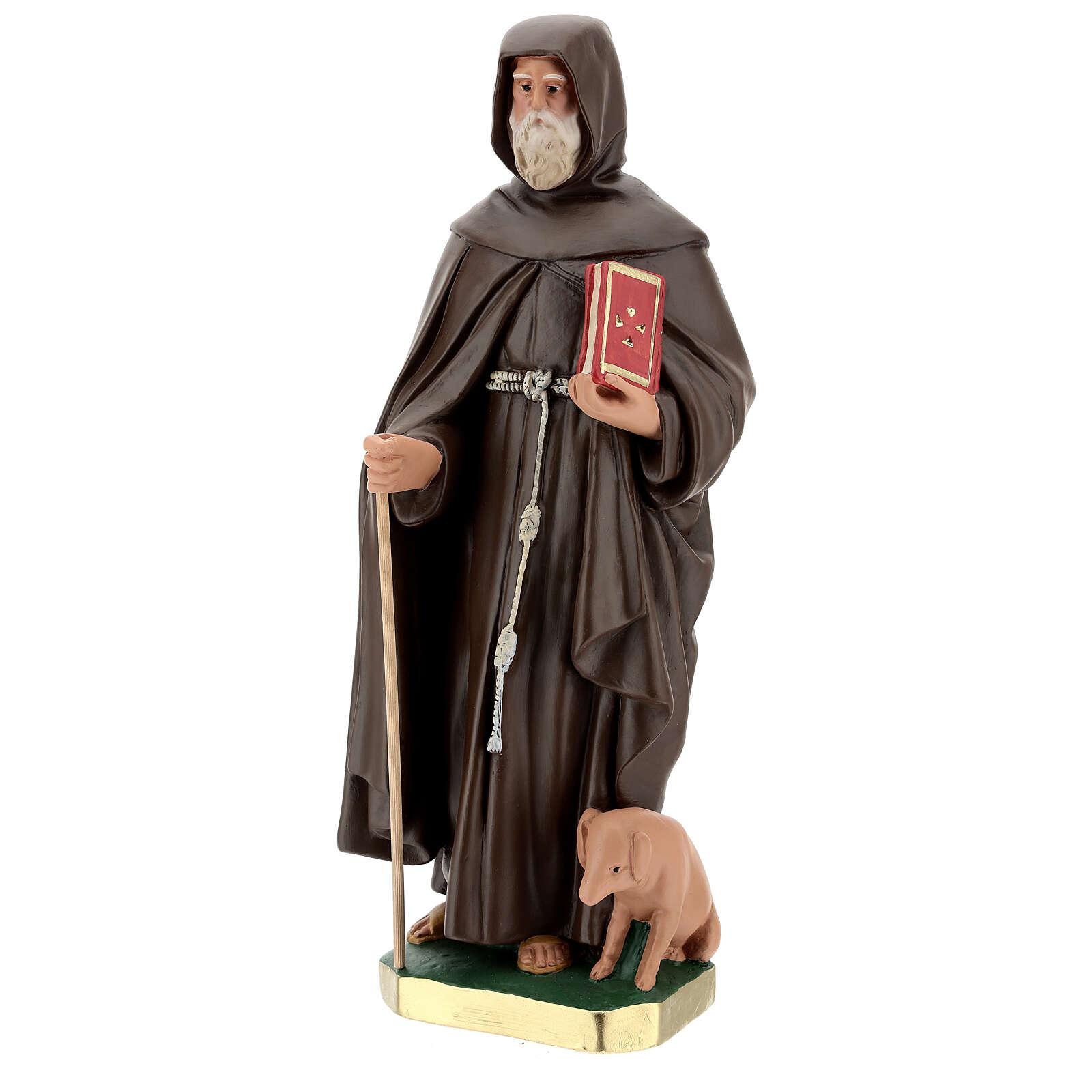 Statue of St Anthony the Abbot 50 cm, plaster Arte Barsanti 4