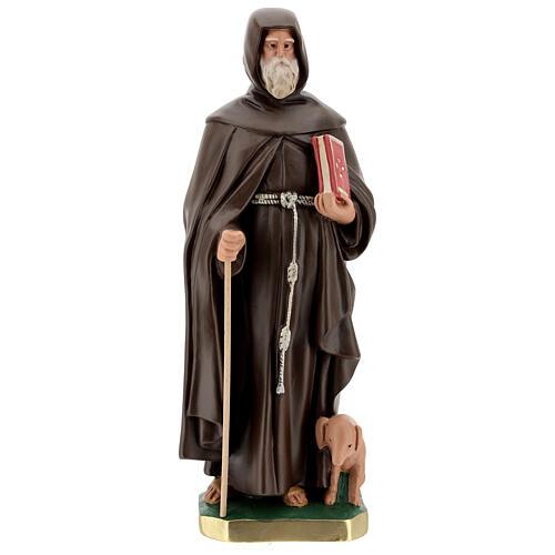 Statue of St Anthony the Abbot 50 cm, plaster Arte Barsanti 1