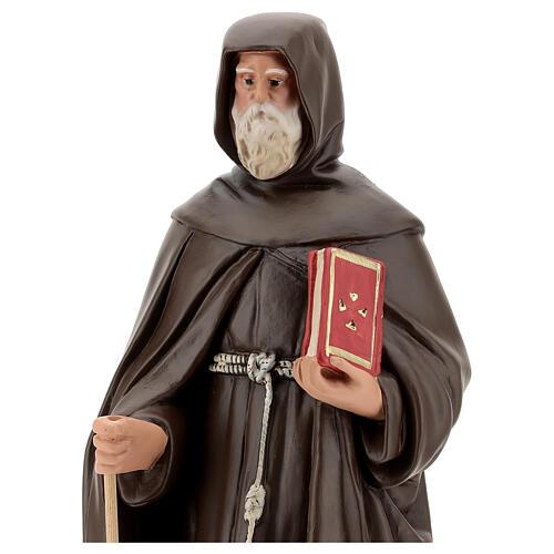 Statue of St Anthony the Abbot 50 cm, plaster Arte Barsanti 2