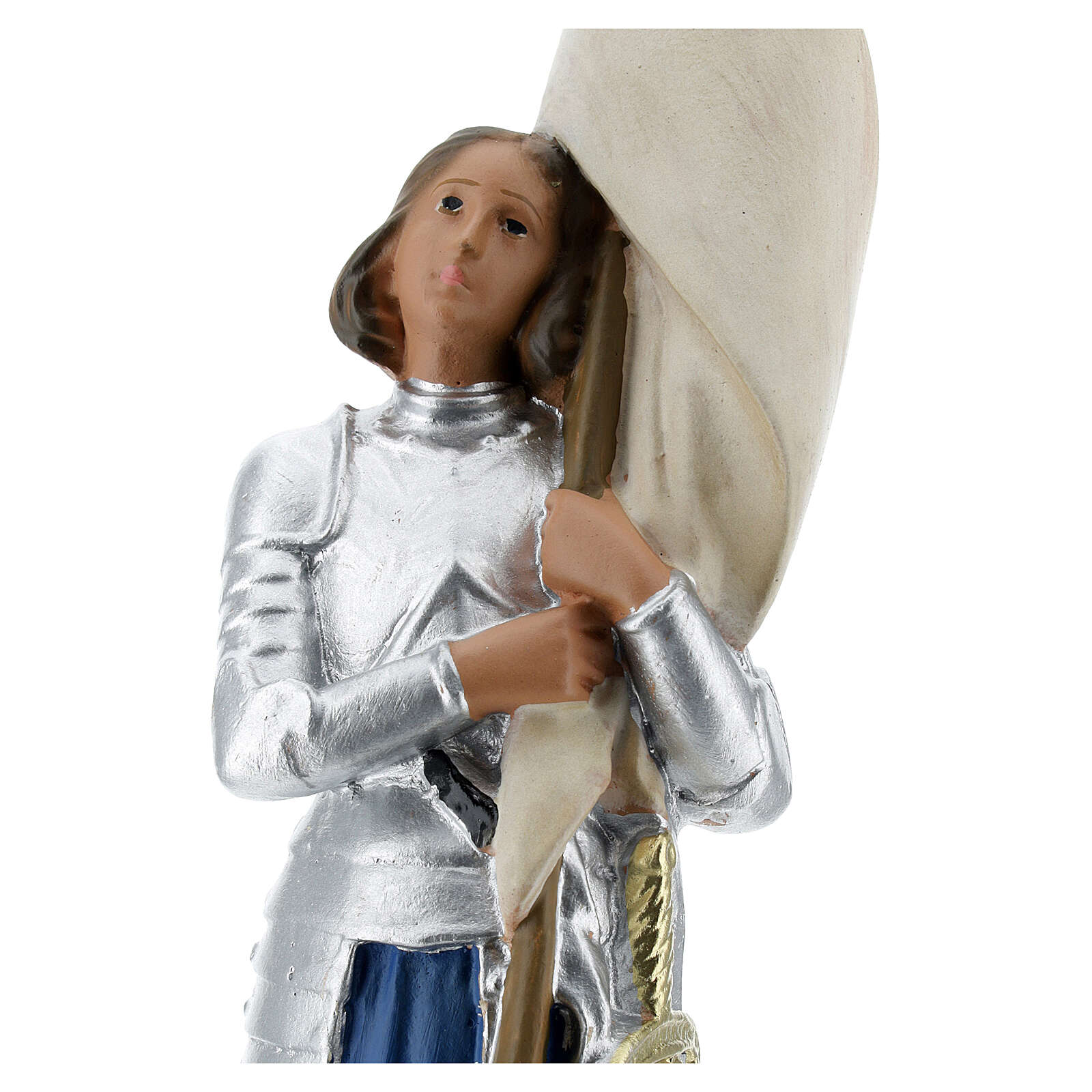 Sainte Jeanne d'Arc statue plâtre 25 cm Arte Barsanti 4