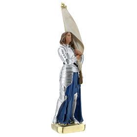 Sainte Jeanne d'Arc statue plâtre 25 cm Arte Barsanti s4