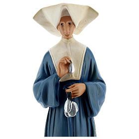 Imagem gesso pintada à mão Santa Catarina Labouré 30 cm Arte Barsanti