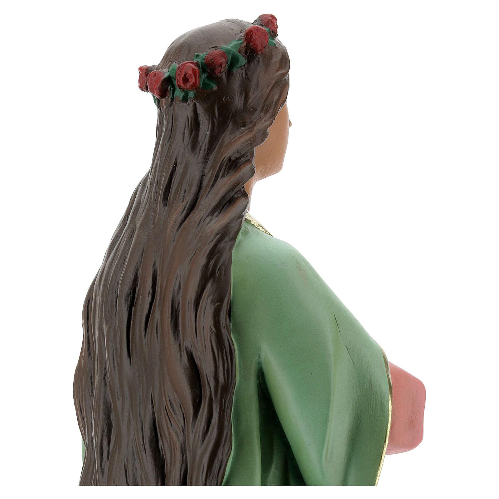 Santa Agnese statua gesso 40 cm dipinta a mano Arte Barsanti 4