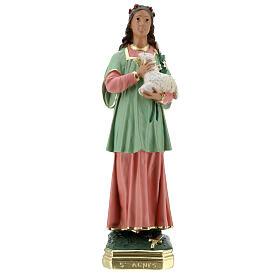 St Agnes statue, 40 cm hand painted plaster Arte Barsanti s1