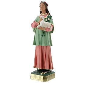 St Agnes statue, 40 cm hand painted plaster Arte Barsanti s3