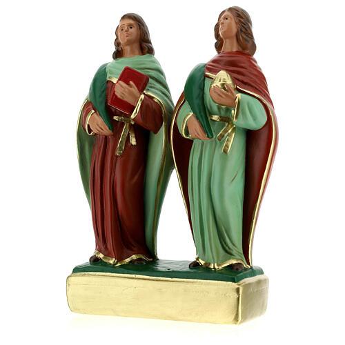 Côme et Damien statue plâtre 20 cm Arte Barsanti 2