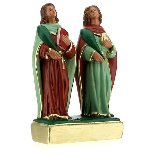 Côme et Damien statue plâtre 20 cm Arte Barsanti 3