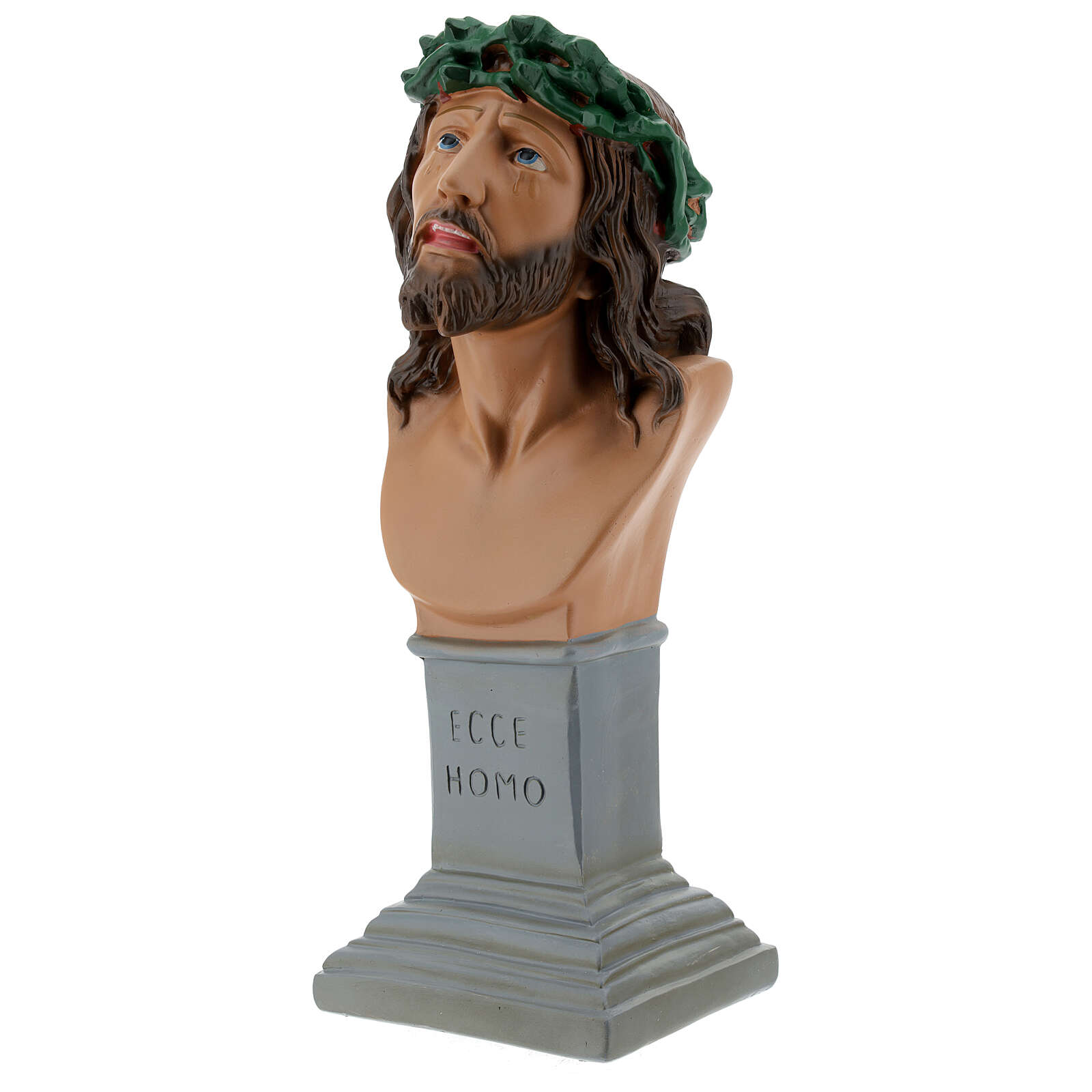 Ecce Homo plaster bust 30 cm hand painted Arte Barsanti 4