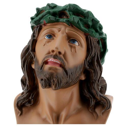 Ecce Homo plaster bust 30 cm hand painted Arte Barsanti 2
