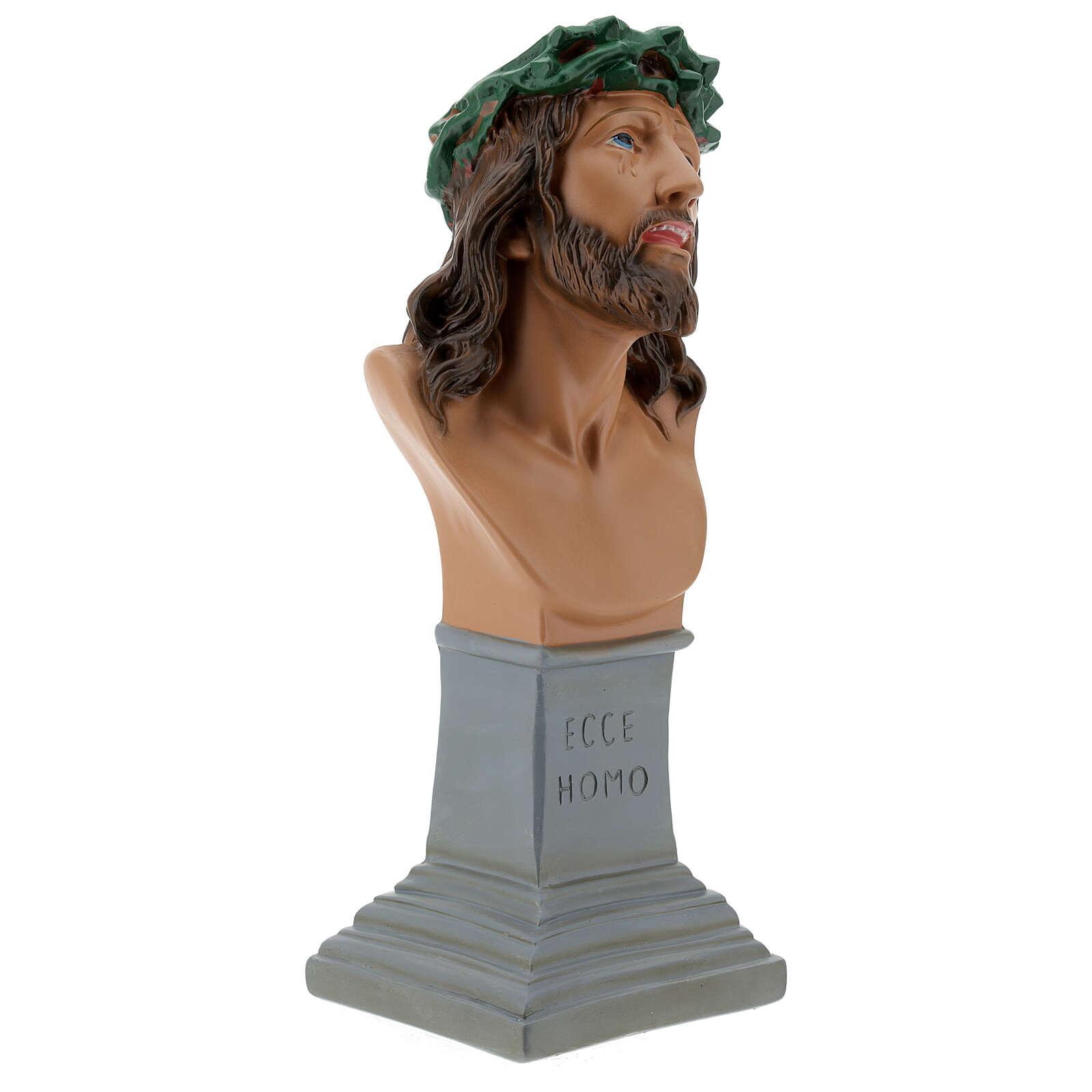 Busto Ecce Homo yeso 30 cm pintado a mano Arte Barsanti 4