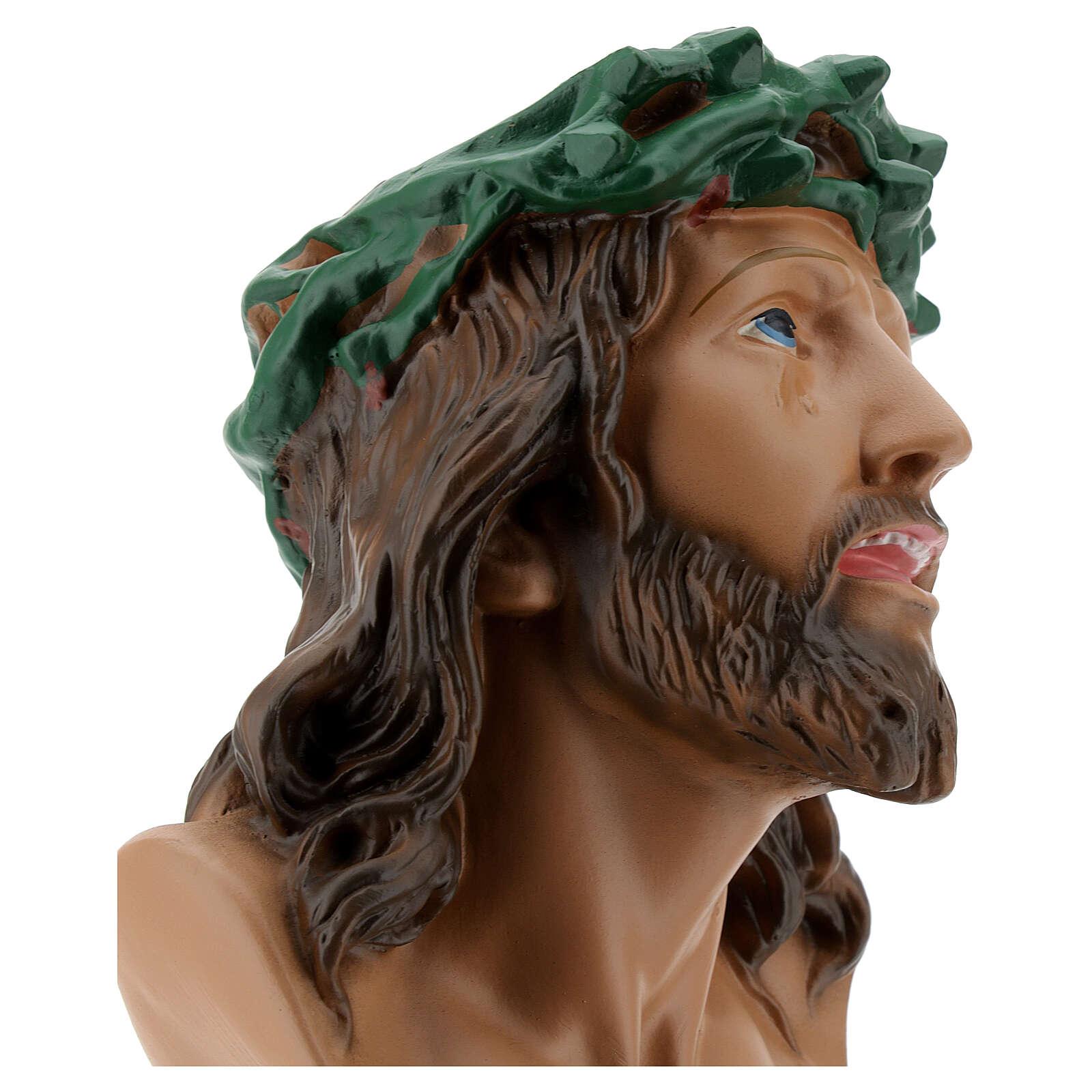 Busto Ecce Homo gesso 30 cm dipinto a mano Arte Barsanti 4