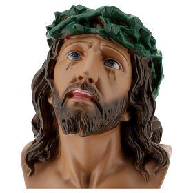 Busto Ecce Homo gesso 30 cm dipinto a mano Arte Barsanti s2