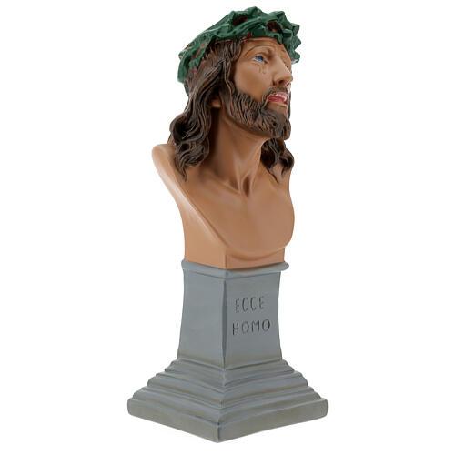 Busto Ecce Homo gesso 30 cm dipinto a mano Arte Barsanti 5