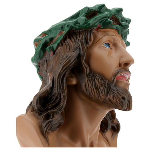 Ecce Homo bust statue, 30 cm hand painted plaster Arte Barsanti 4