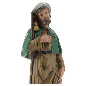 Saint Roch plâtre statue 20 cm peinte main Arte Barsanti s2