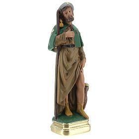 Saint Roch plâtre statue 20 cm peinte main Arte Barsanti s4