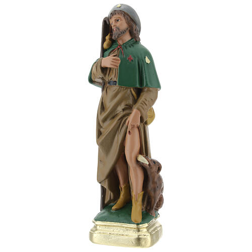 Saint Roch plâtre statue 20 cm peinte main Arte Barsanti 3