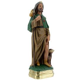 Statue Saint Roch 30 cm plâtre peint main Arte Barsanti s4