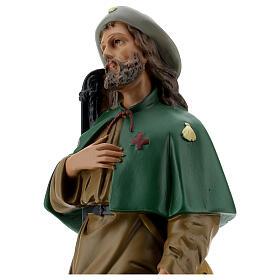 Saint Roch plâtre 40 cm statue peinte main Arte Barsanti s2