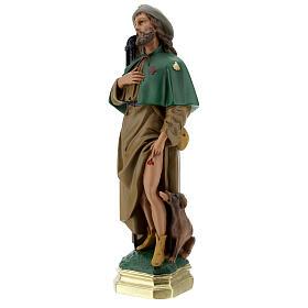 Saint Roch plâtre 40 cm statue peinte main Arte Barsanti s3