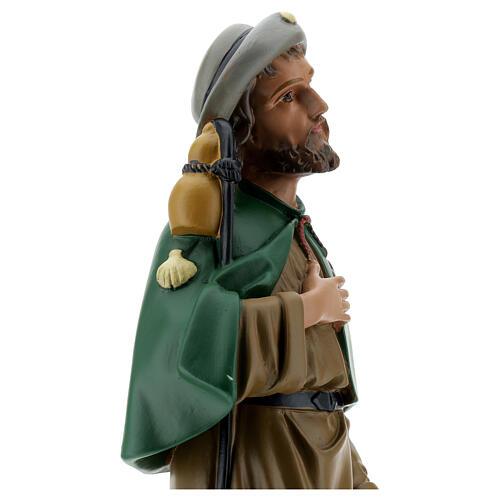 Saint Roch plâtre 40 cm statue peinte main Arte Barsanti 6