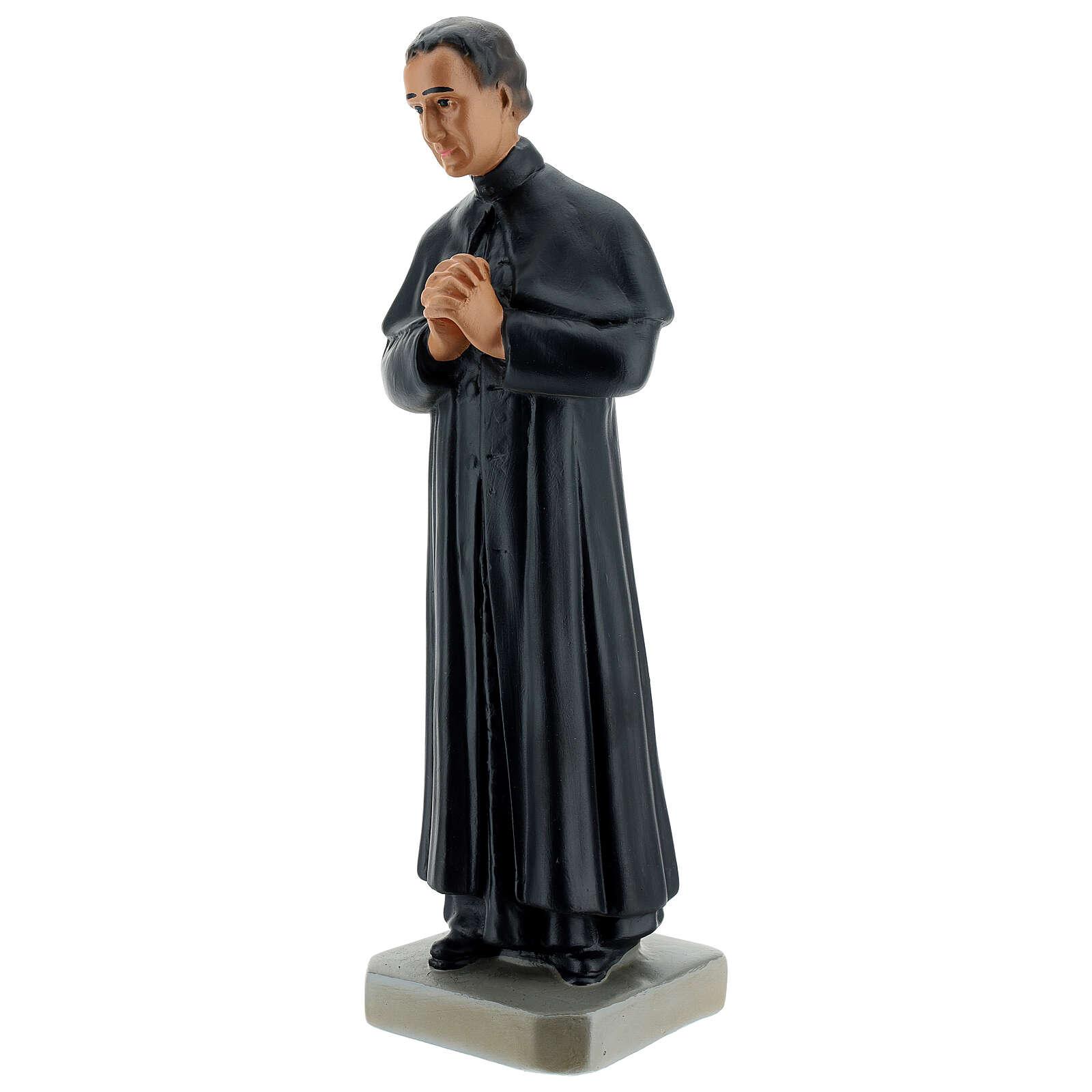 Saint Jean Bosco statue 30 cm plâtre peint main Arte Barsanti 4