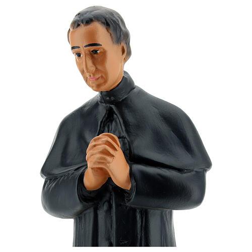 Saint Jean Bosco statue 30 cm plâtre peint main Arte Barsanti 2