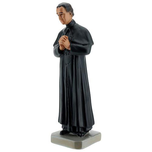 Saint Jean Bosco statue 30 cm plâtre peint main Arte Barsanti 3