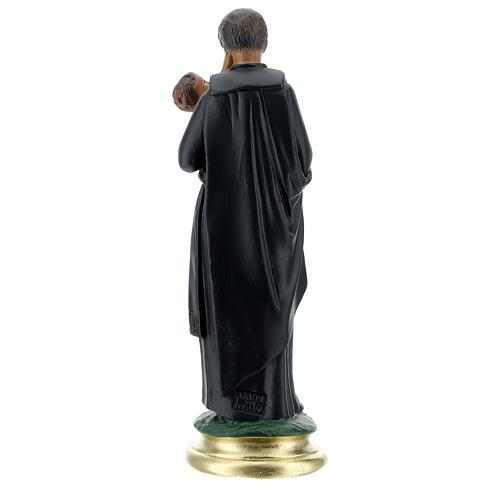 San Gaetano estatua 25 cm yeso pintado a mano Arte Barsanti 5