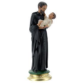 Saint Gaëtan statue 25 cm plâtre peint main Arte Barsanti s4