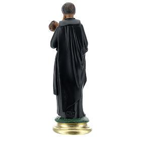 Saint Gaëtan statue 25 cm plâtre peint main Arte Barsanti s5