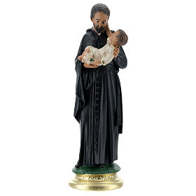 San Gaetano statua 25 cm gesso dipinto a mano Arte Barsanti s1