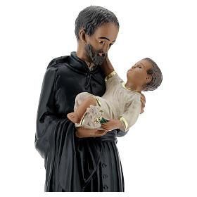 Saint Cajetan statue, 25 cm hand painted plaster Arte Barsanti s2