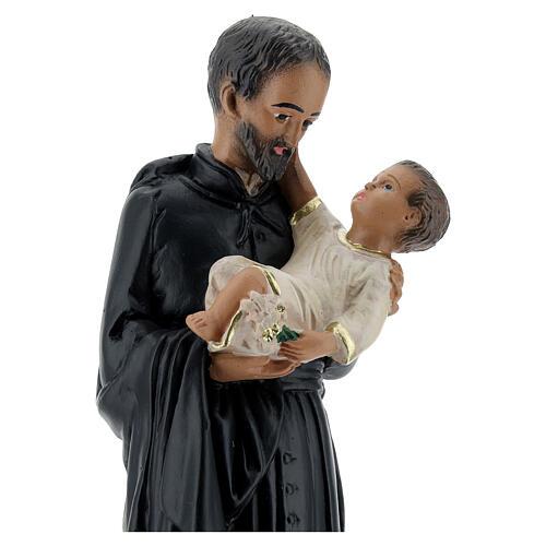 Saint Cajetan statue, 25 cm hand painted plaster Arte Barsanti 2