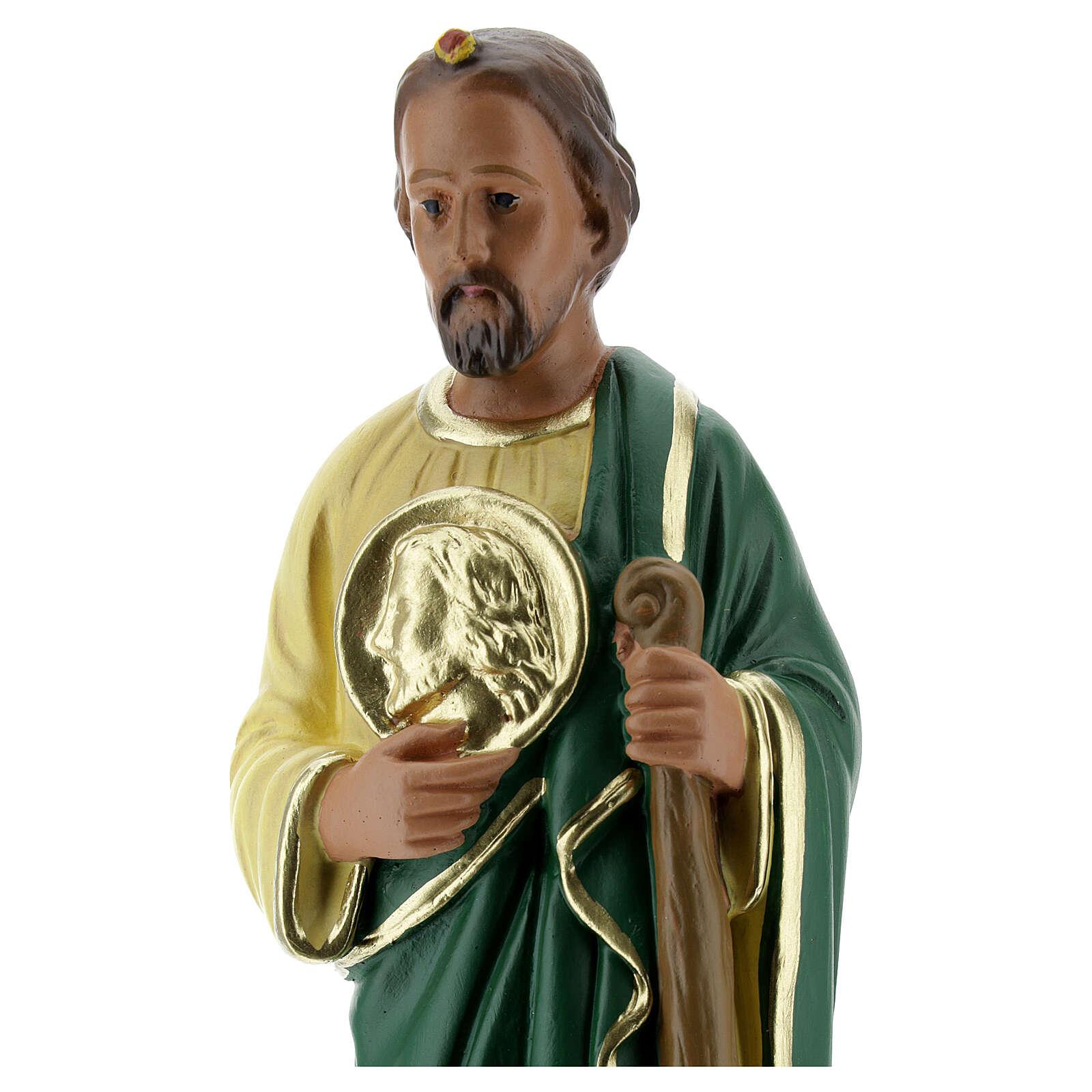 Saint Jude statue, 20 cm hand painted plaster Arte Barsanti 4