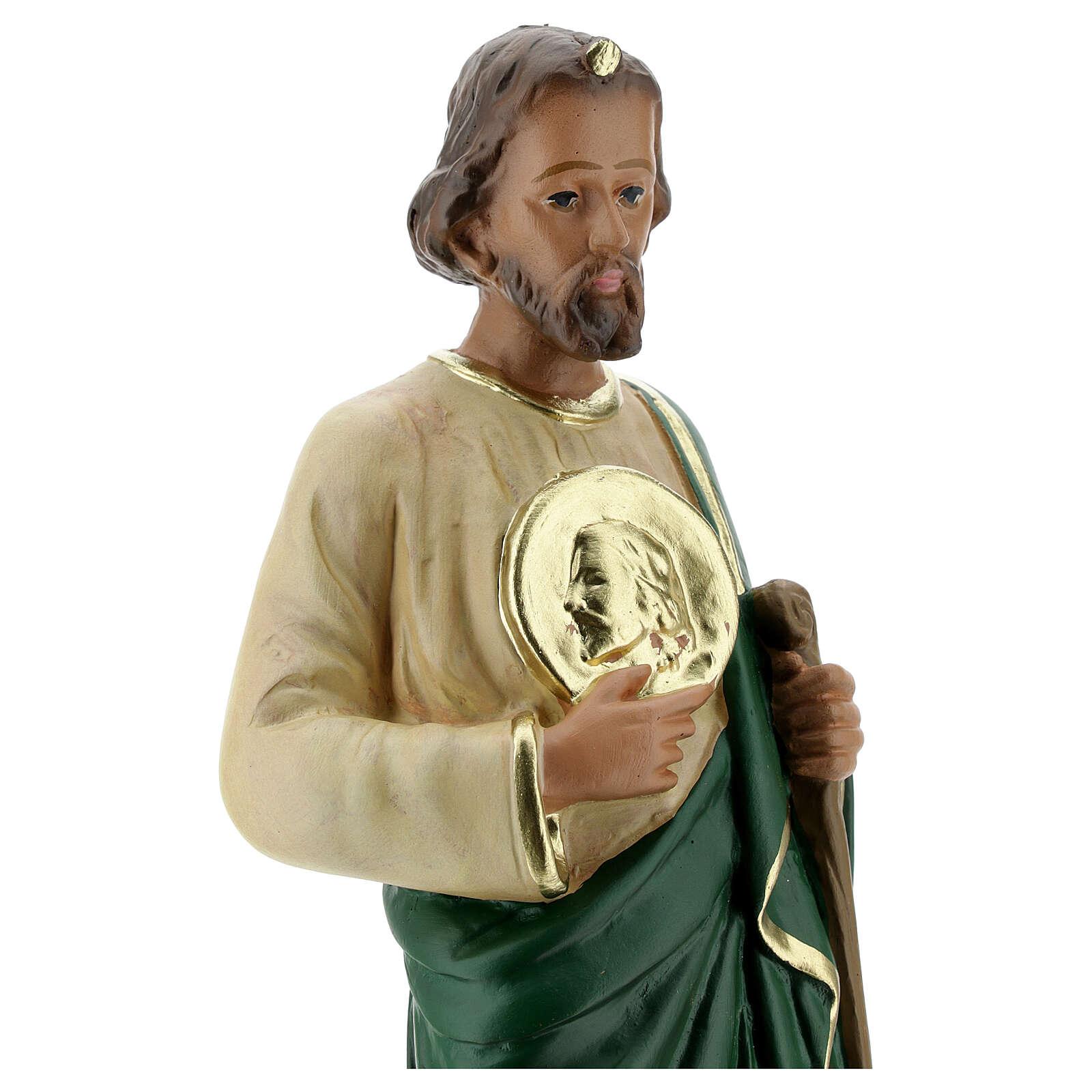 San Judas estatua yeso 30 cm coloreada a mano Arte Barsanti 4