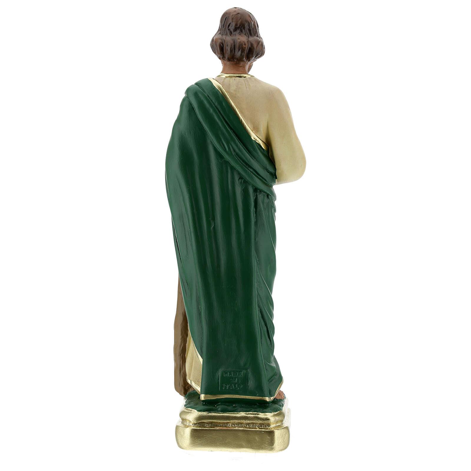 St Jude statue, 30 cm hand painted plaster Arte Barsanti 4