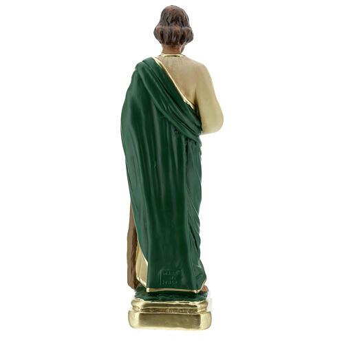 St Jude statue, 30 cm hand painted plaster Arte Barsanti 5