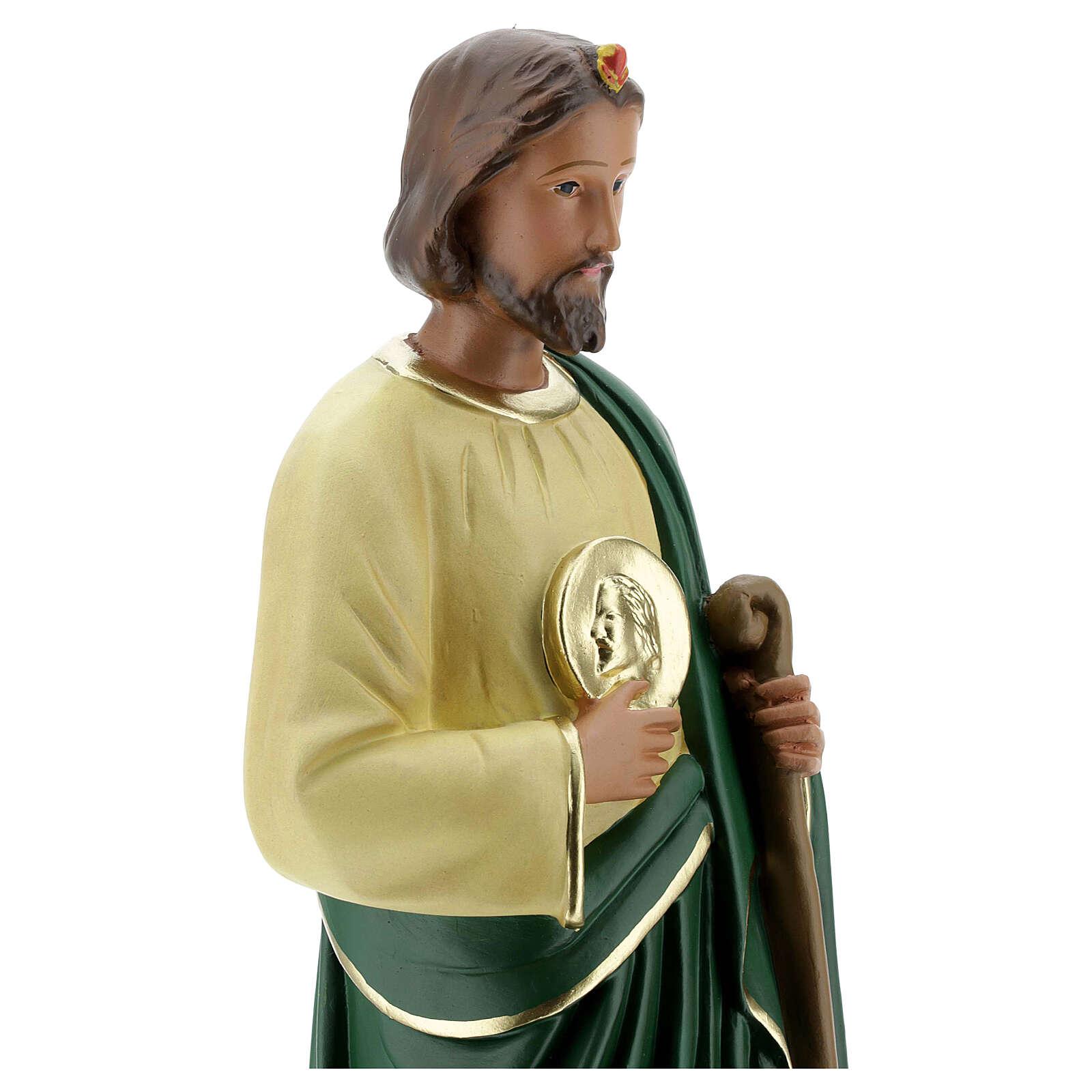 Statue of St. Judas 40 cm hand painted plaster Arte Barsanti 4