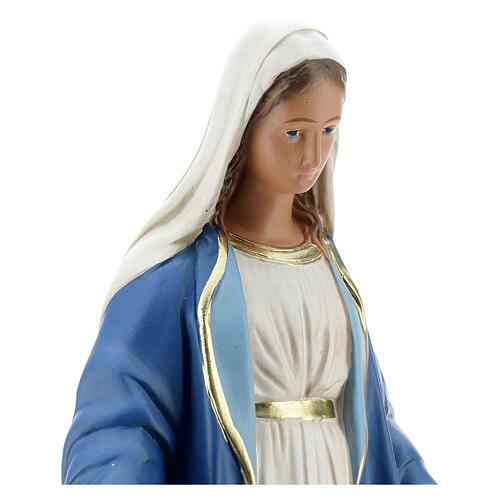 Immaculate Virgin Mary 30 cm plaster hand painted Arte Barsanti 2