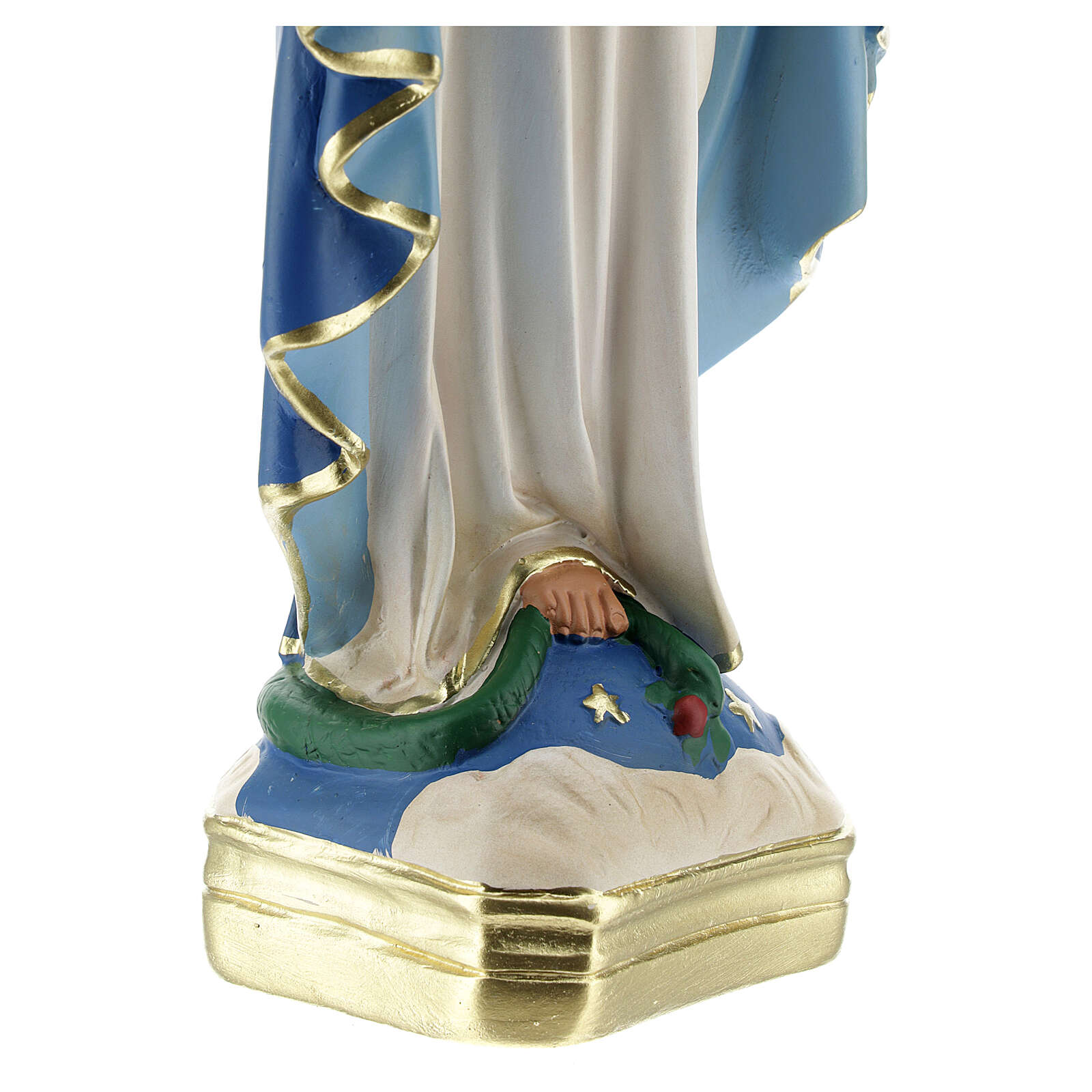 Our Lady of Grace statue, 30 cm plaster Arte Barsanti 4