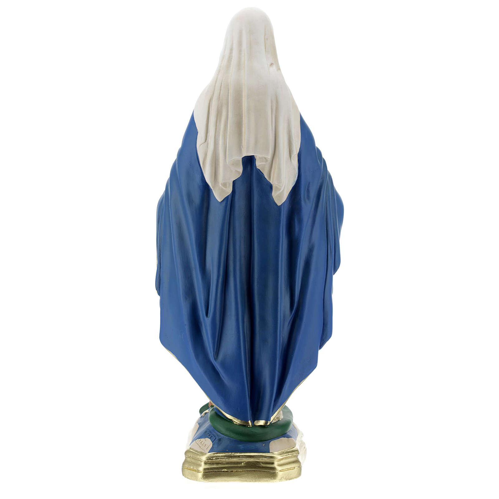 Immaculée Conception 40 cm statue plâtre Barsanti 4