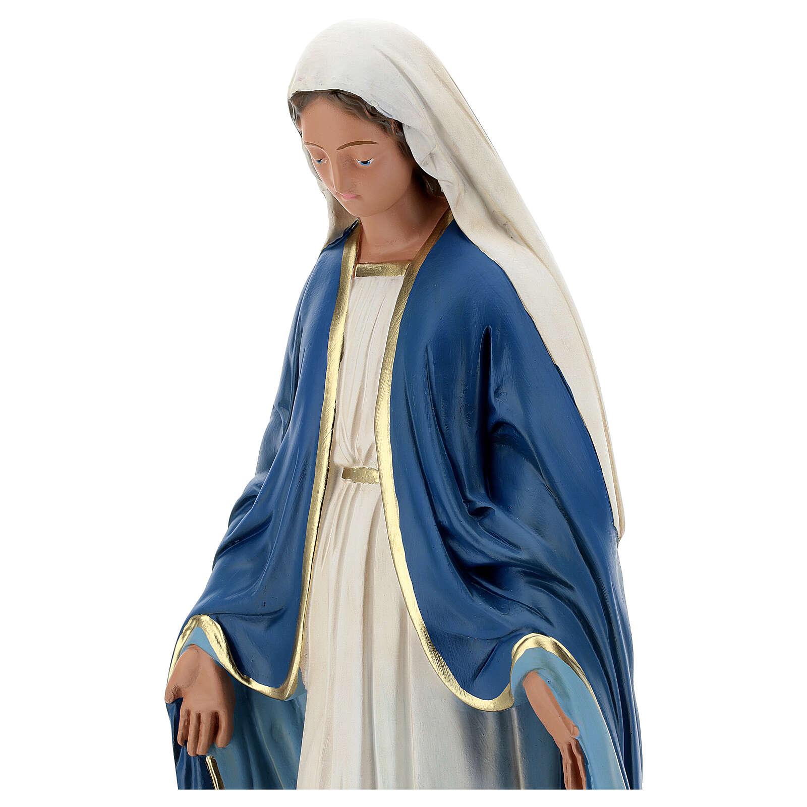 Immaculée Conception statue 50 cm plâtre peint Barsanti 4