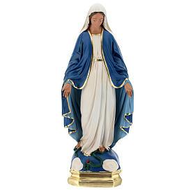 Immaculée Conception statue 50 cm plâtre peint Barsanti s1