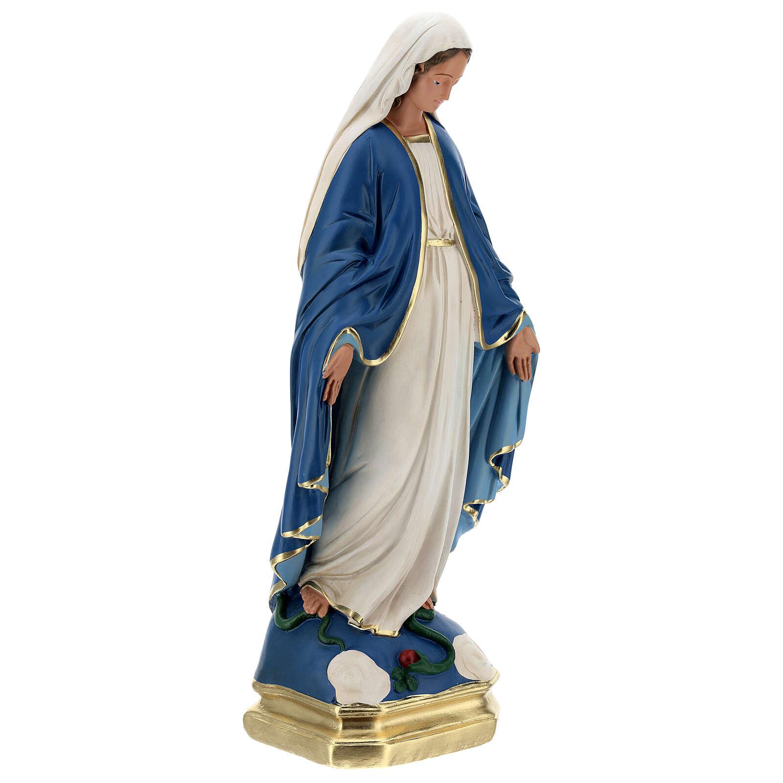 Madonna Immacolata statua 50 cm gesso dipinto Barsanti 4