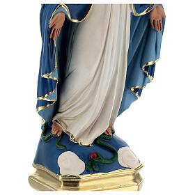 Madonna Immacolata statua 50 cm gesso dipinto Barsanti s5