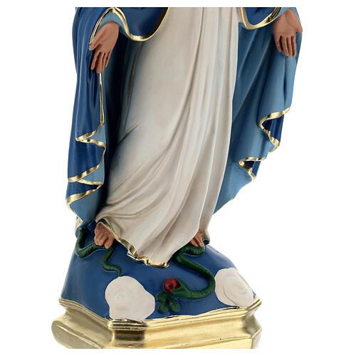 Madonna Immacolata statua 50 cm gesso dipinto Barsanti 5