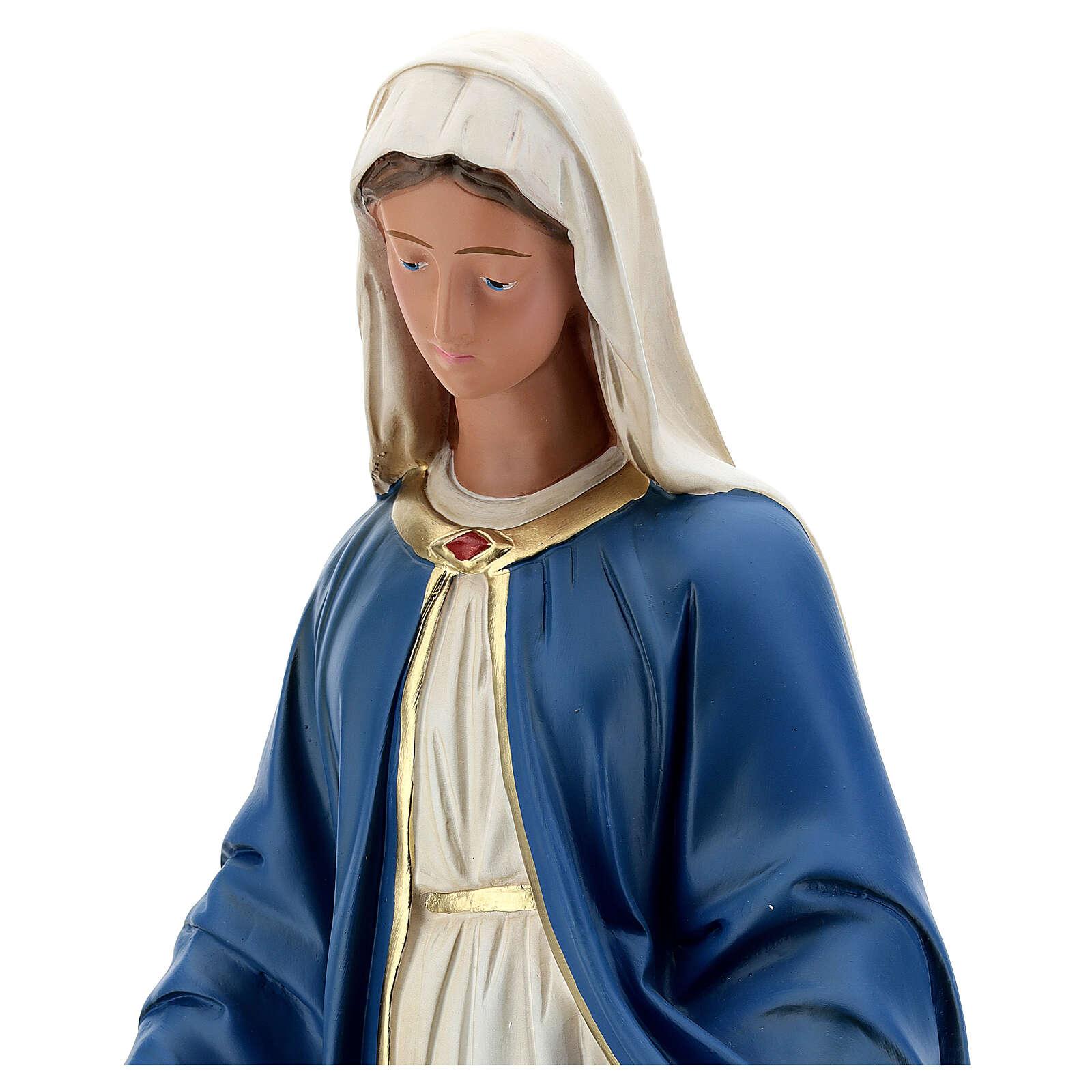 Immaculée Conception statue plâtre 60 cm Arte Barsanti 4